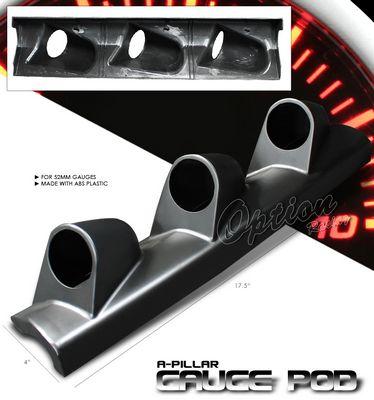 Universal Black Triple Gauge A-Pillar Pod