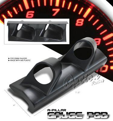 Universal Black Dual Gauge A-Pillar Pod