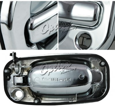 Chevy Avalanche 2002 2003 Front Chrome Door Handles