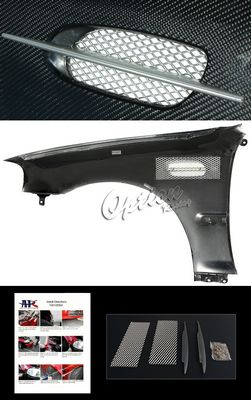 Honda Civic Sedan 1999-2000 Carbon Fiber M3 Style Fender