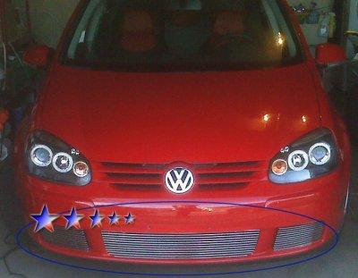 VW Rabbit 2007-2009 Aluminum Lower Bumper Billet Grille Insert