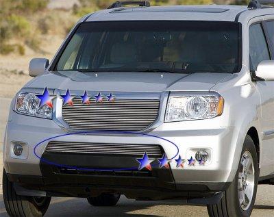 Honda Pilot 2009-2011 Aluminum Lower Bumper Billet Grille Insert