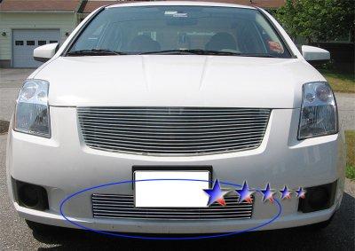 Nissan Sentra 2007-2009 Aluminum Lower Bumper Billet Grille Insert