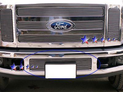 Ford F450 Super Duty 2008-2010 Polished Aluminum Lower Bumper Billet Grille Insert