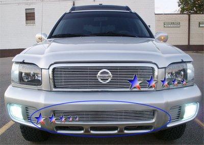 Nissan Pathfinder 1999-2004 Aluminum Lower Bumper Billet Grille Insert