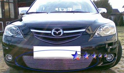 Mazda 3 Sport Hatchback 2004-2006 Aluminum Lower Bumper Billet Grille Insert