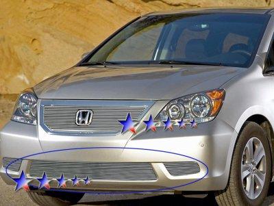 Honda Odyssey 2008-2010 Aluminum Lower Bumper Billet Grille Insert