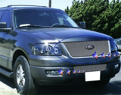 Ford Expedition Polished Aluminum Vertical Billet Grille - 2006 expedition