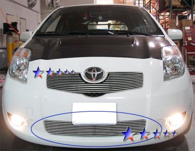 Toyota Yaris Hatchback 2006-2008 Aluminum Lower Bumper Billet Grille Insert