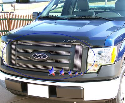 Ford F150 2009 2011 Polished Aluminum Billet Grille Insert