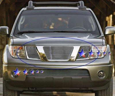 nissan frontier 2005 2008 aluminum billet grille insert a1278sv5209 topgearautosport topgearautosport com