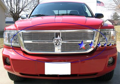 2008 Dodge Dakota Polished Aluminum Billet Grille Insert