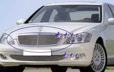 Mercedes Benz S600 2007-2011 Aluminum Billet Grille Insert