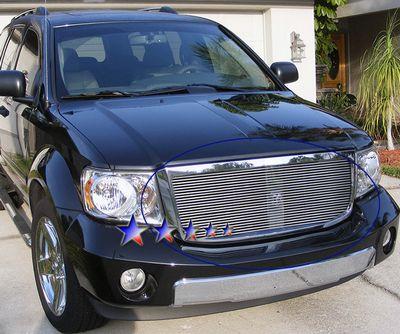 Dodge Durango 2007 2010 Polished Aluminum Billet Grille Insert A127c91t209 Topgearautosport