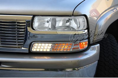 chevy tahoe 2000 2006 clear euro headlights and bumper lights set a101r5ou213 topgearautosport topgearautosport com