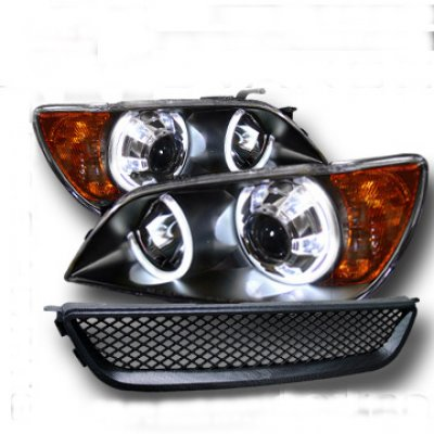 Lexus Is300 2001 2005 Black Halo Projector Headlights And