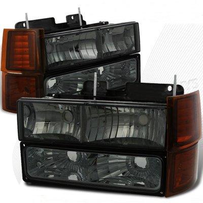 GMC Yukon 1994-1998 Smoked Headlights Bumper Lights Side Marker Lights