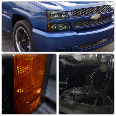 Chevy Silverado 2003 2006 Smoked Euro Headlights And Per Lights