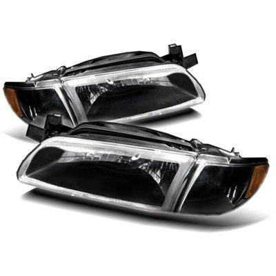 Pontiac Grand Prix 1997 2003 Black Euro Headlights And Corner Lights A103y6mu213 Topgearautosport
