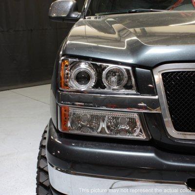 Chevy Silverado 2500hd 2003 2006 Clear Halo Projector