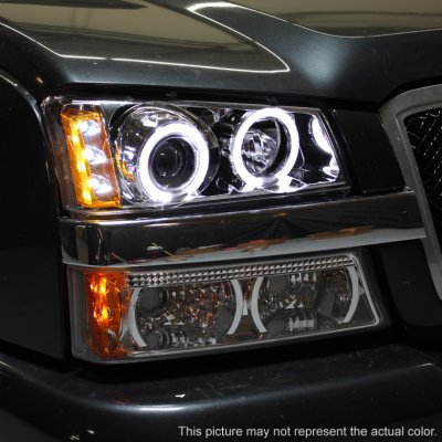 Chevy Silverado 2500 2003 2004 Clear Halo Projector