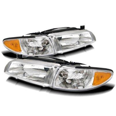 Pontiac Grand Prix 1997 2003 Clear Euro Headlights And Corner Lights A10bzw213 Topgearautosport