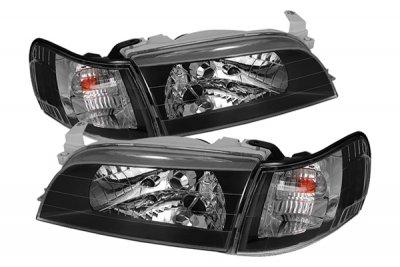 Toyota Corolla 1998 2000 Black Euro Headlights And Corner Lights