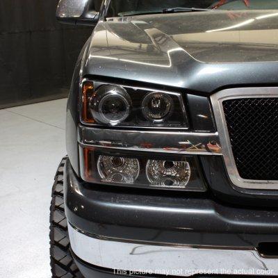 Chevy Silverado 3500 2003 2006 Black Halo Projector