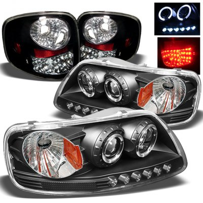 Ford F150 Flareside 1997 2003 Black Projector Headlights And Led
