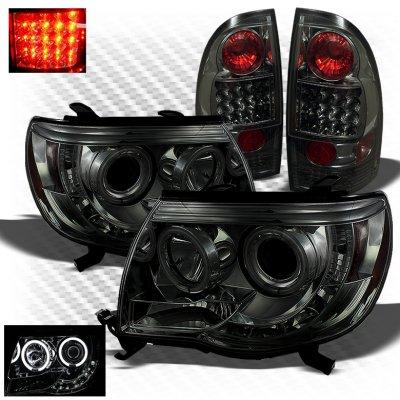 Toyota Tacoma 2005 2017 Smoked Ccfl Halo Headlights And Led Tail Lights A103fd12213 Topgearautosport