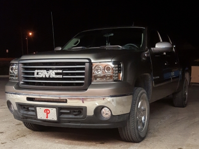 Gmc Sierra 2007 2017 Smoked Halo Projector Headlights And Led Tail Lights Customer Photo