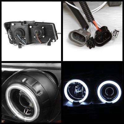 Chevy Silverado 2003-2006 Chrome CCFL Halo Headlights Bumper Lights and LED Tail Lights
