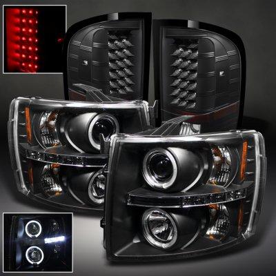 Chevy Silverado 2500hd 2007 2017 Black Headlights And Tail Lights A103feac213 Topgearautosport