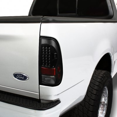 Ford F250 Super Duty 2005 2007 Black Halo Headlights And Led Tail Lights