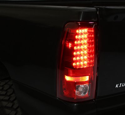 Chevy Silverado 2003-2006 Black CCFL Halo Headlights Bumper Lights and Red LED Tail Lights