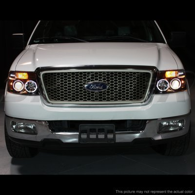 Ford F150 2004 2008 Smoked Halo Projector Headlights And
