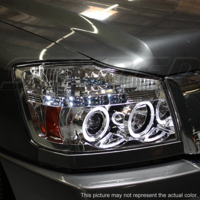 Nissan Titan 2004-2012 Smoked Projector Headlights and Fog Lights