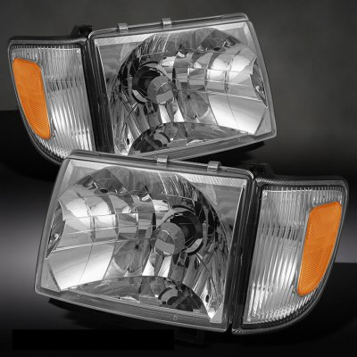 Toyota Tacoma 1997 2000 Clear Euro Headlights And Corner Lights A1039rn0213 Topgearautosport