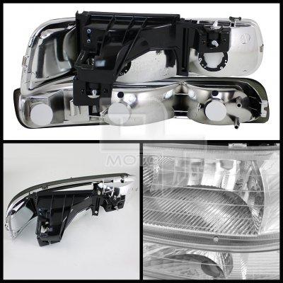 Chevy Silverado 1999-2002 Clear Headlights Set and Fog Lights