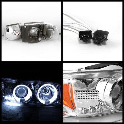 2005 gmc sierra chrome projector headlights and led bumper. Black Bedroom Furniture Sets. Home Design Ideas