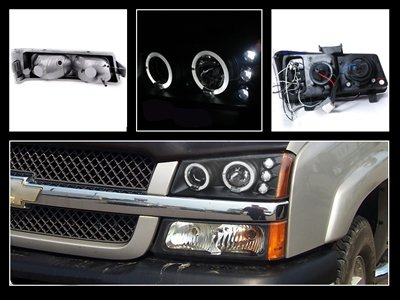 Chevy Silverado 2003 2006 Black Projector Headlights And Per Lights