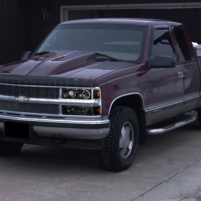 Chevy 1500 Pickup 1994-1998 Black Halo Headlights and Bumper Lights