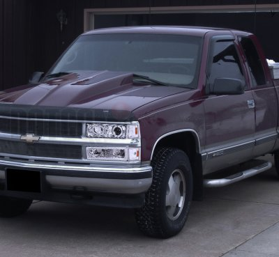 chevy 1500 pickup 1994 1998 clear halo headlights and bumper lights a122q92j213 topgearautosport topgearautosport com