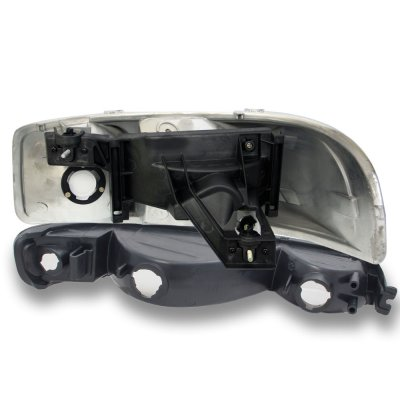 GMC Sierra 1999-2006 Black Clear Headlights and Bumper Lights