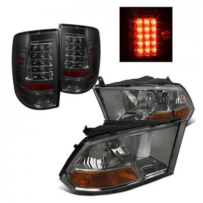 Dodge Ram 2009-2015 Smoked Headlights and LED Tail Lights