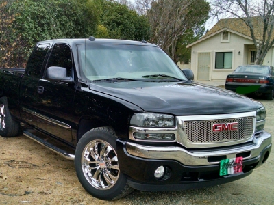 gmc sierra 1999 2006 smoked clear headlights and bumper. Black Bedroom Furniture Sets. Home Design Ideas