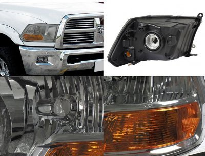 Dodge Ram 2500 2010 2015 Smoked Headlights And Led Tail Lights A128blq3213 Topgearautosport