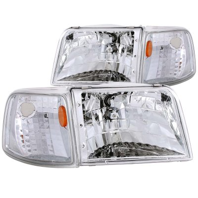 Ford Ranger 1993-1997 Headlights and Corner Lights Chrome