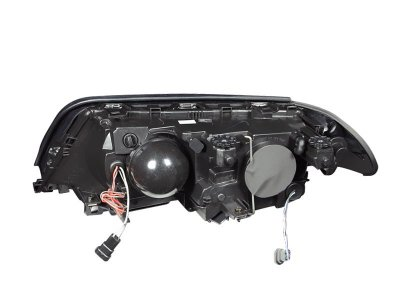 BMW 3 Series Sedan 1999-2001 Projector Headlights and Corner Lights Black Halo