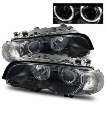 BMW 3 Series Coupe 1999-2001 Projector Headlights and Corner Lights Black Halo